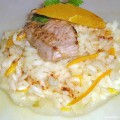 Risotto de veau à l'orange et au Parmesan