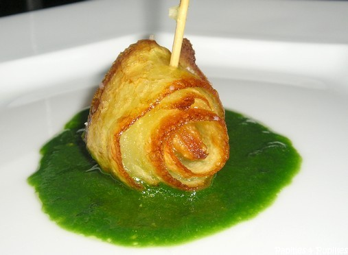 Rubans de pommes de terre croustillants à l'ail et au persil
