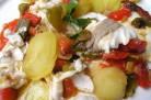 Papillotes de bar, poivrons et pommes de terre