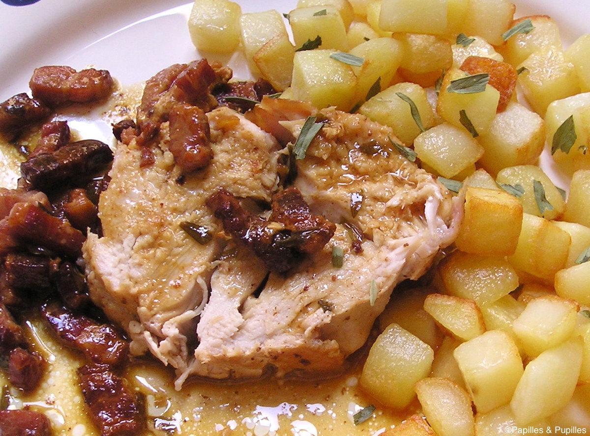 Rôti de dindonneau au vin blanc et à l'estragon