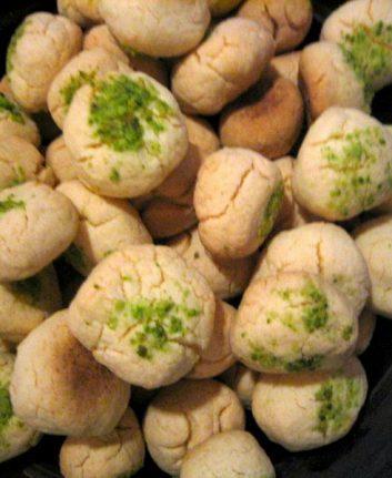 Biscuits à la farine de riz, cardamome et pistaches sans gluten