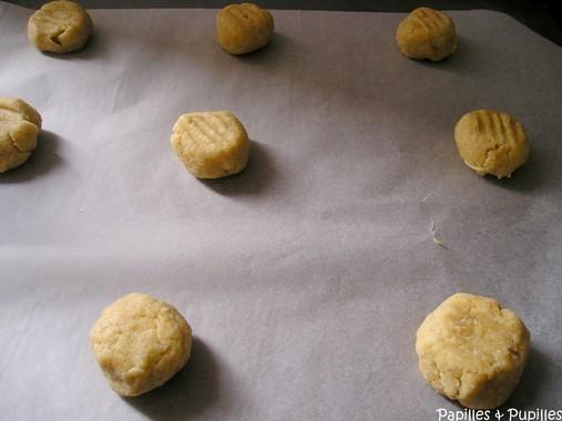 Cookies au miel et aux noix de Macadamia avant cuisson