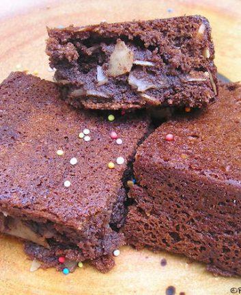 Gâteau d'anniversaire chocolat amandes