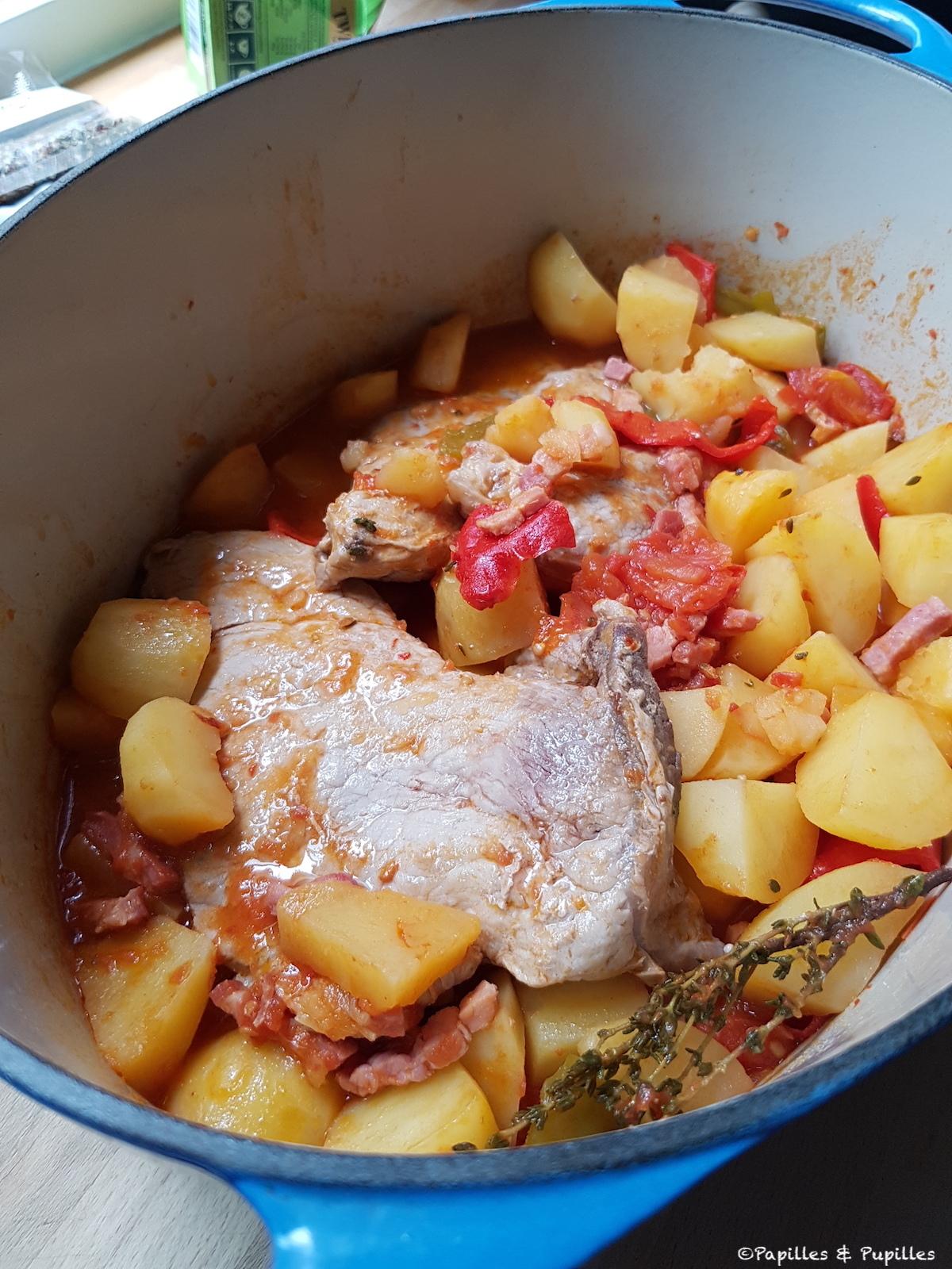 Quasi de veau aux pommes de terre et tomates