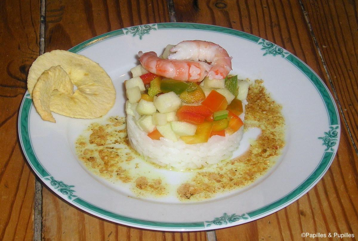 Salade des beaux jours et vinaigrette au curry