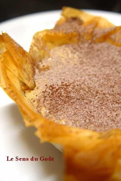 Tartelettes croquantes crème caramel