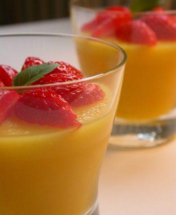 Crèmes aux fruits exotiques sans oeufs