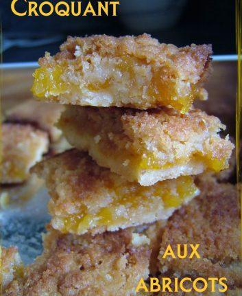 Croquants aux abricots - sans oeufs