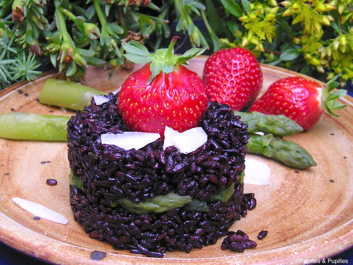 Risotto aux fraises et aux asperges