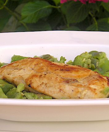 Escalopes de poulet aux fèves et au garam masala