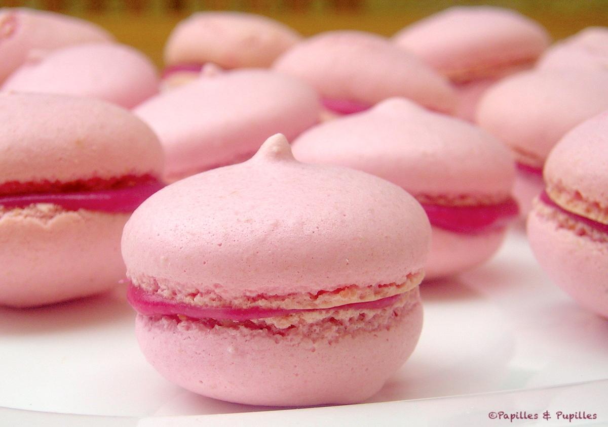 Macarons framboise chocolat blanc