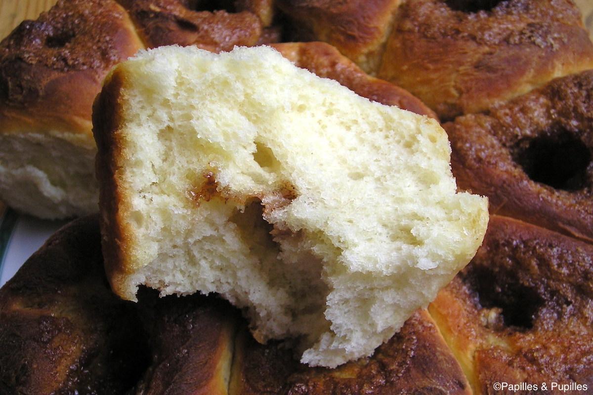 Brioche morave au sucre et à la cannelle - Mie