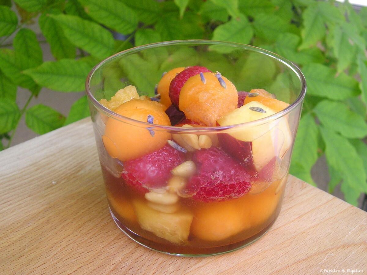 Meli Melo framboises nectarines melon