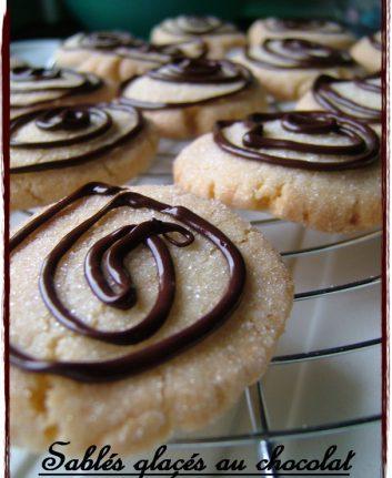 Sablés glacés au chocolat sans oeufs
