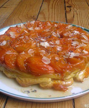 Tarte Tatin abricots lavande