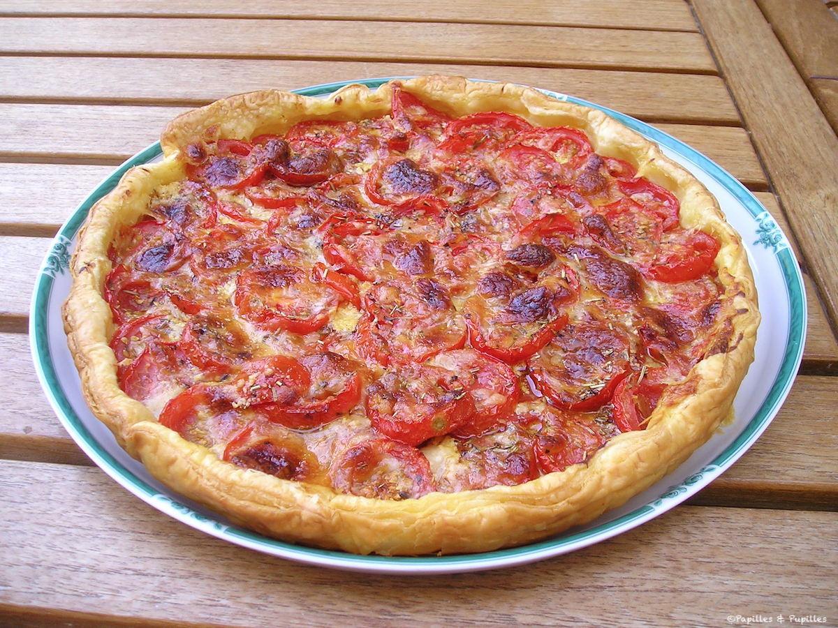 Tarte feuilletée à la tomate