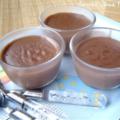 Crèmes au chocolat sans oeufs