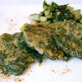 Galettes vertes sans oeufs sans gluten