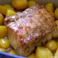 Rôti de porc estragon et pommes de terre