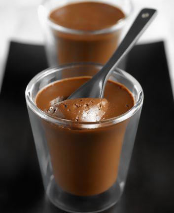 Panacotta coco chocolat sans lait sans oeufs ©