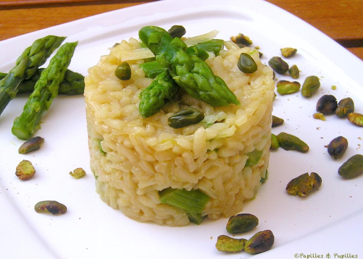 Risotto aux asperges et pistaches