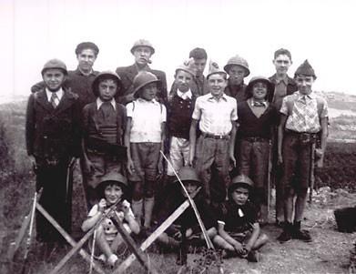 Photo d'une famille - période de guerre