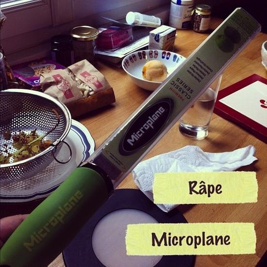 Râpe microplane