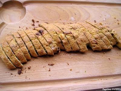 Coupez les biscottis