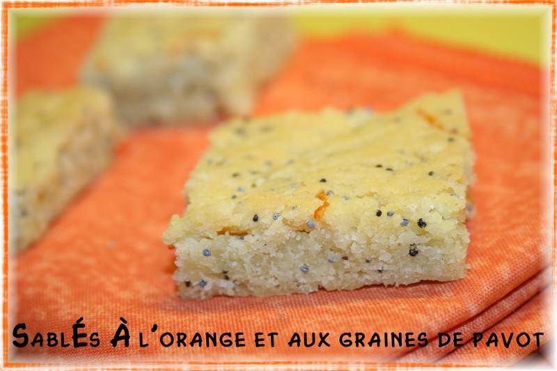 Sablés à l'orange et aux graines de pavot
