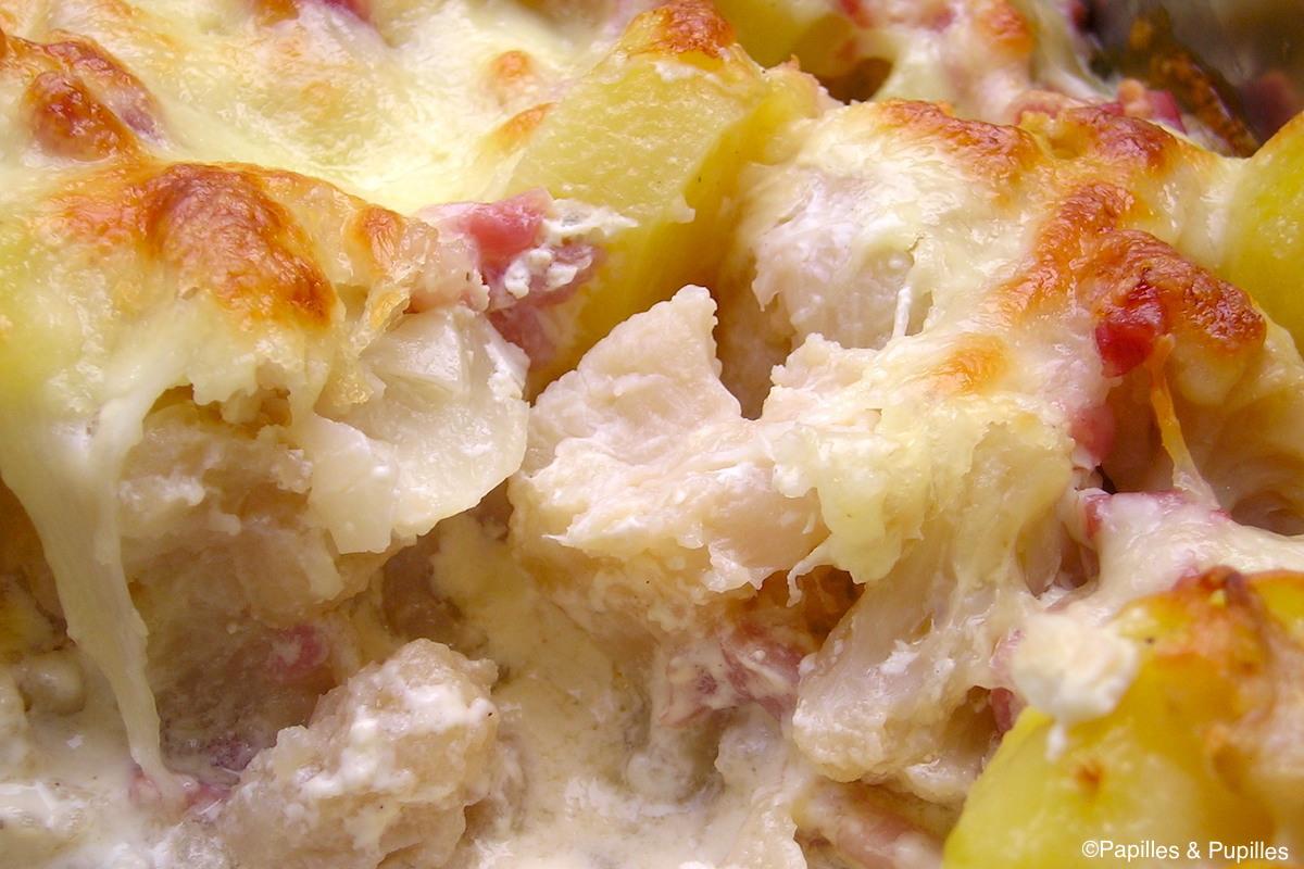 gratin chou fleur pomme de terre