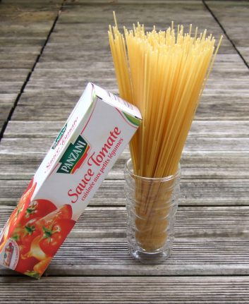 Spaghetti et sauce tomate