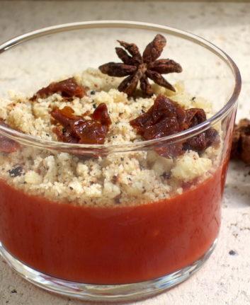 Crumble de tomates à l'agar agar