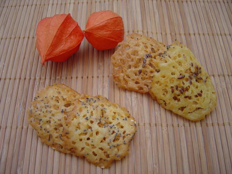 Tuiles à l'orange et aux petites graines sans oeufs