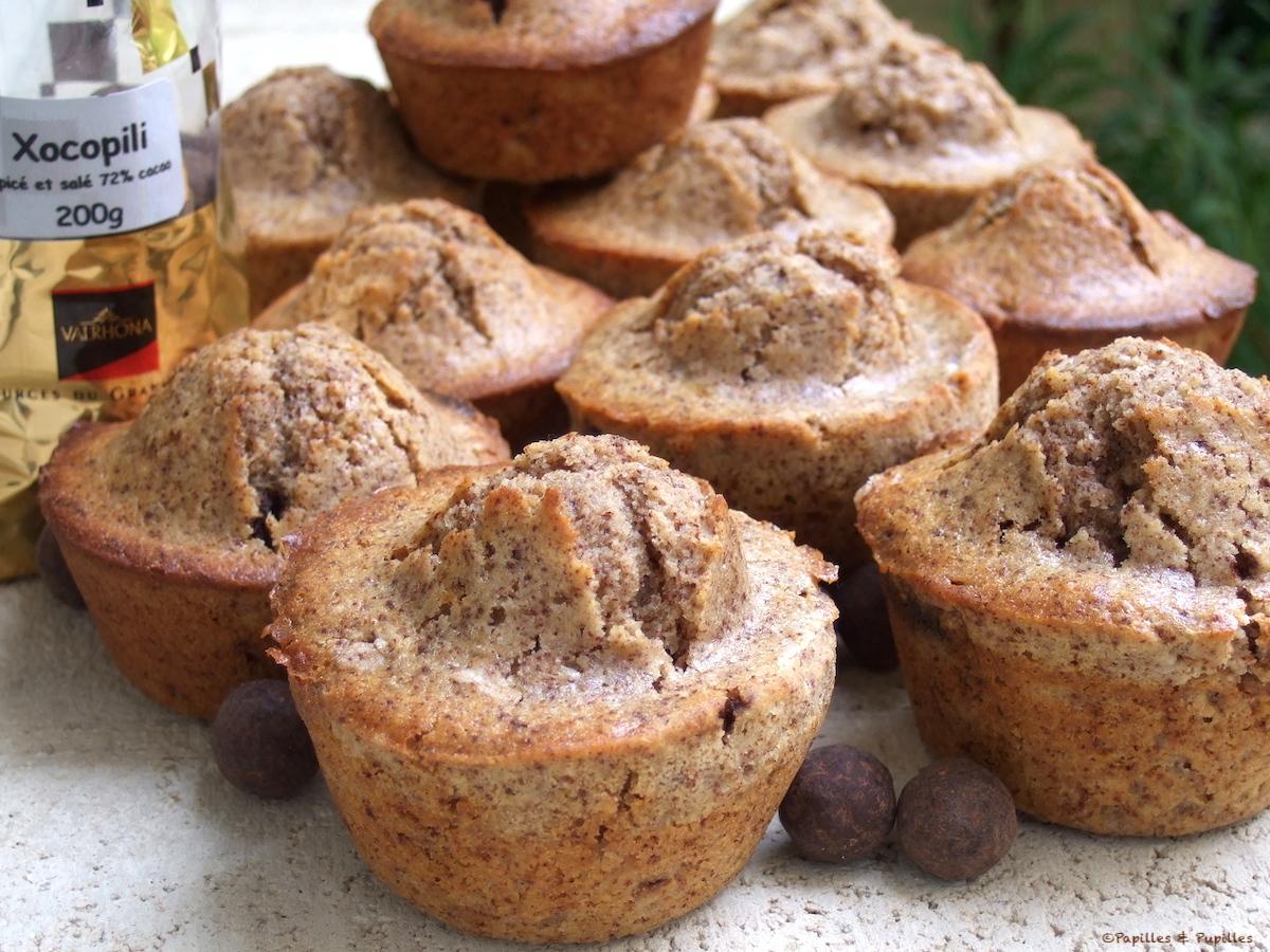 Muffins aux noix et xocopili