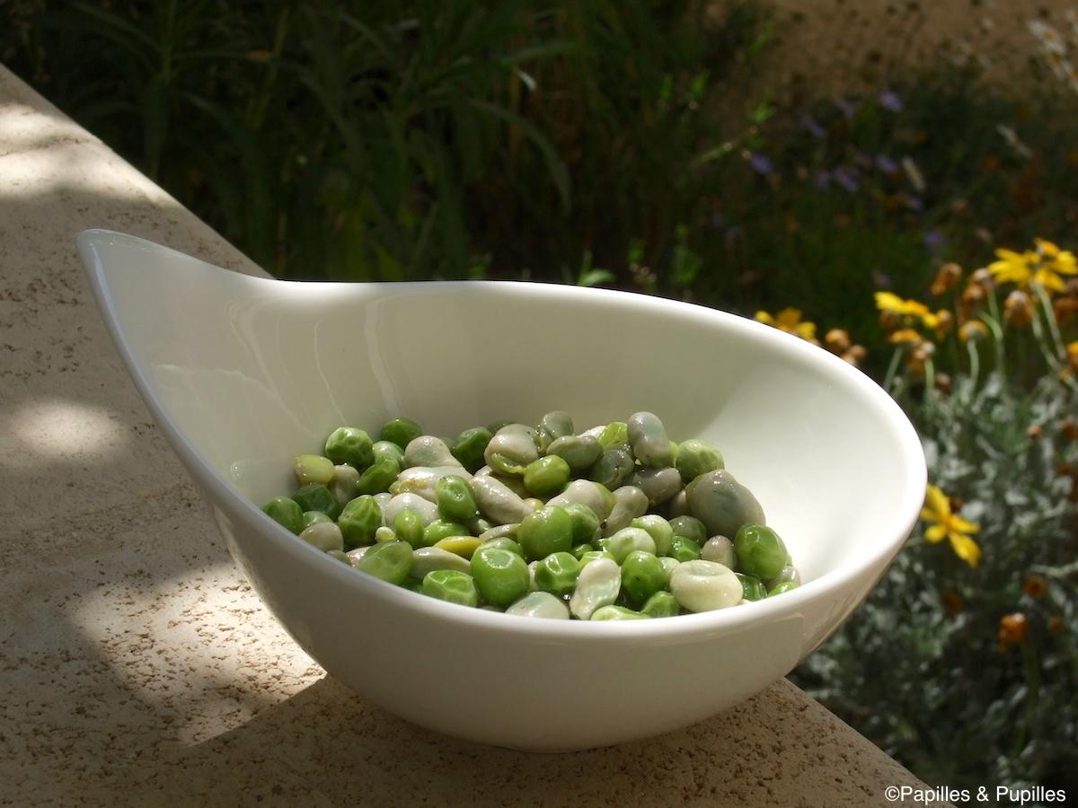 Salade de fèves et petits pois