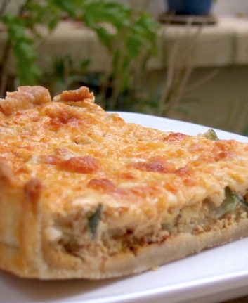 Quiche courgettes cumin mozzarella