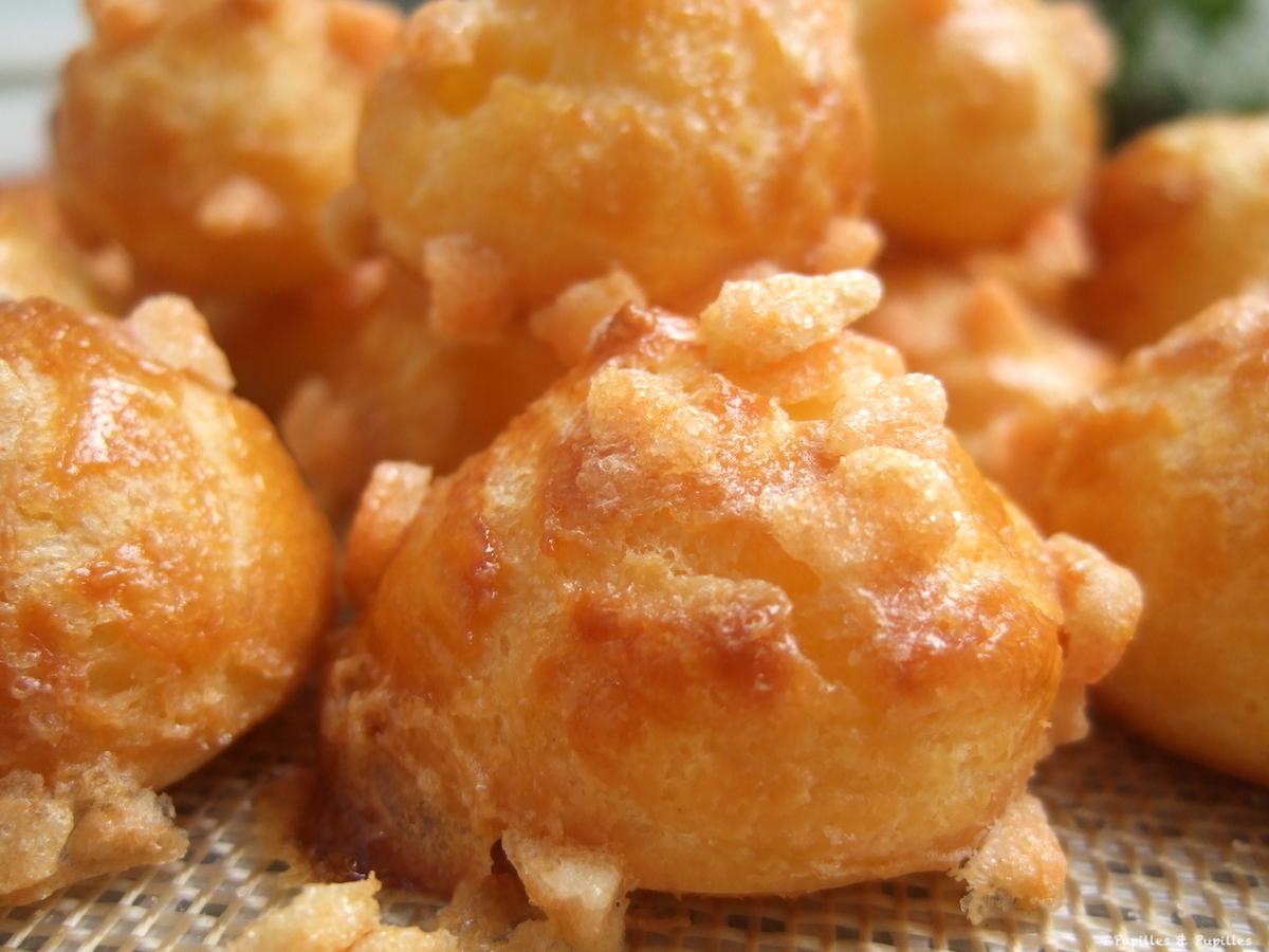 Chouquettes au sucre noisettes