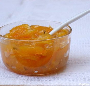 Confiture d'oranges aux grains de fenouil au micro ondes