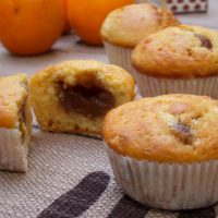 Muffins zestes d'orange crème de marrons