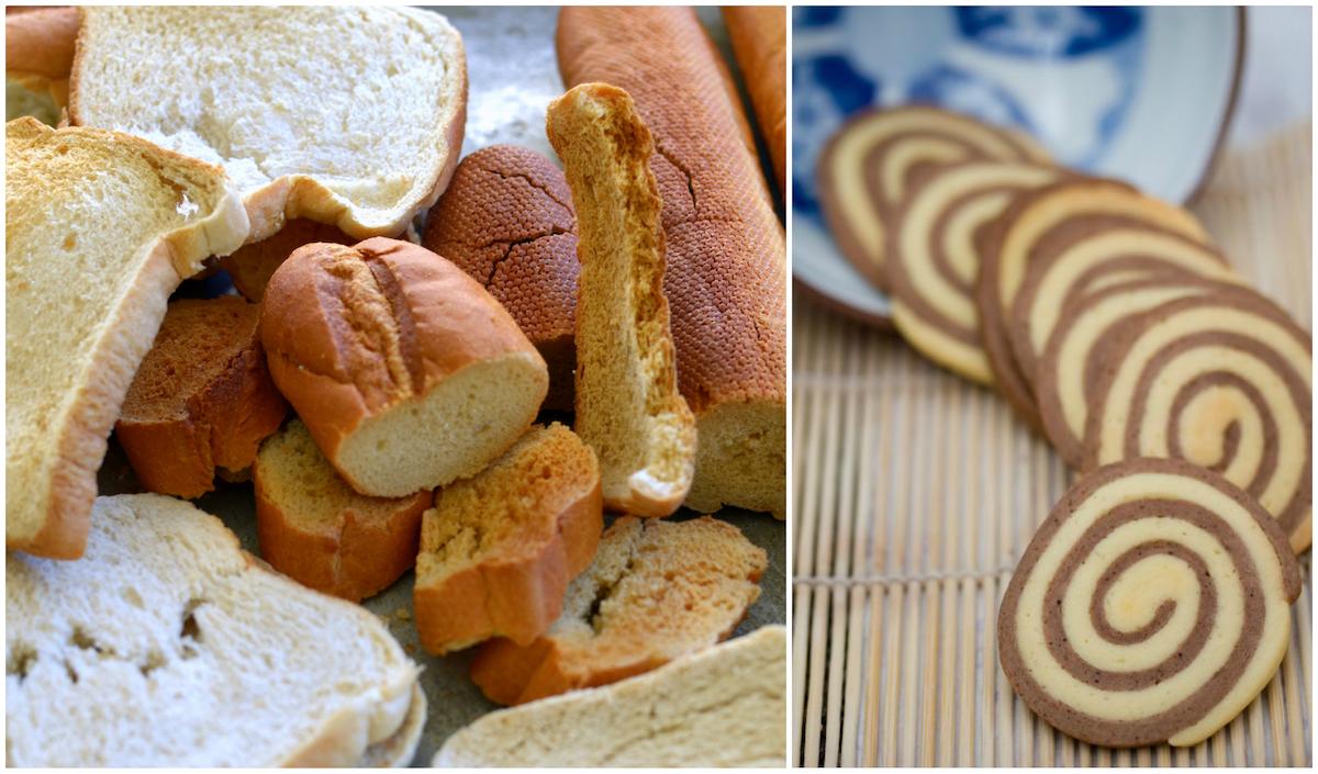 Pain sec et biscuits mous