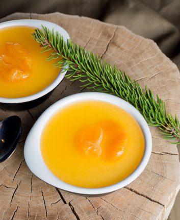 Panacotta orange et pain d'épices sans oeufs, sans gluten