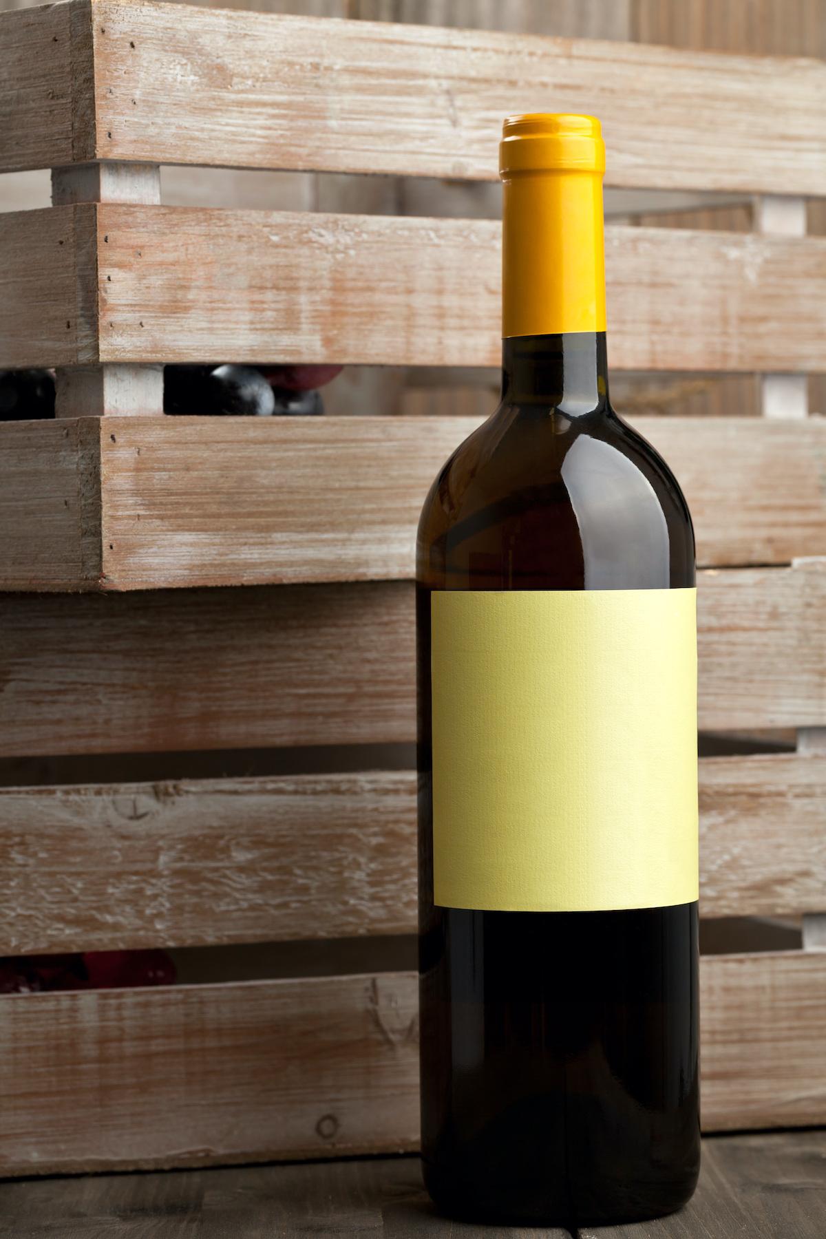 Vin étiquette vierge ©Shawn Hempel Shutterstock