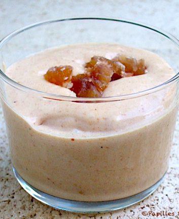 Mousse à la crème de marrons et aux marrons glacés