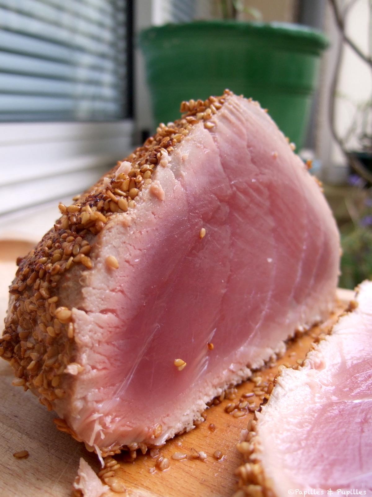 Rôti de thon rouge en croûte de zaatar