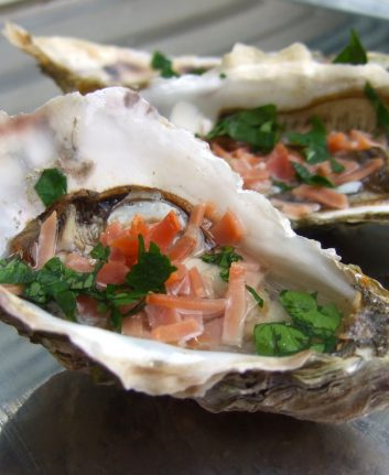 Huîtres en duo terre mer