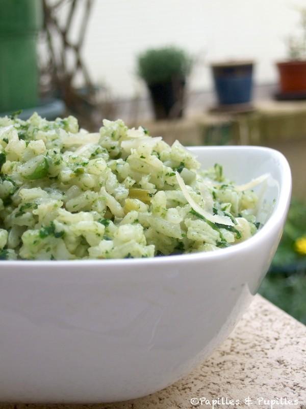 risotto chevre epinards