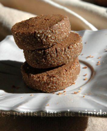 Sablés diamant au chocolat sans oeufs