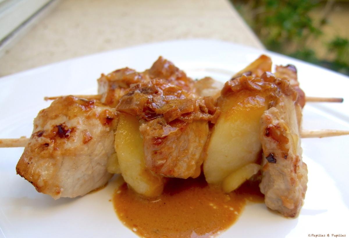 Brochette de veau aux pommes