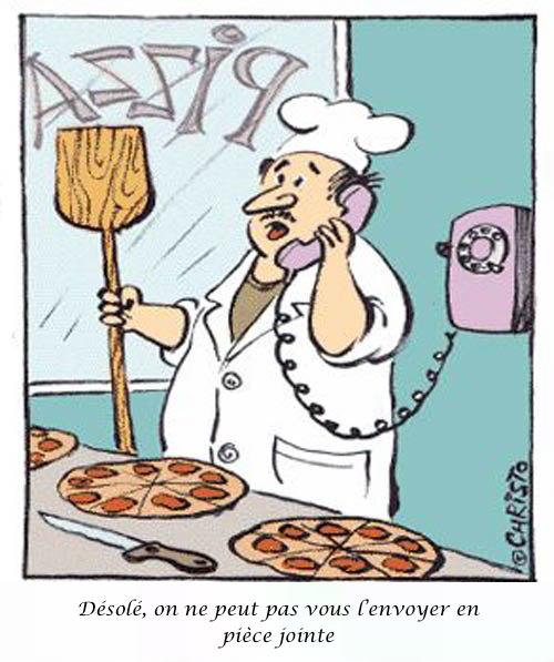 Commander une pizza en 2014
