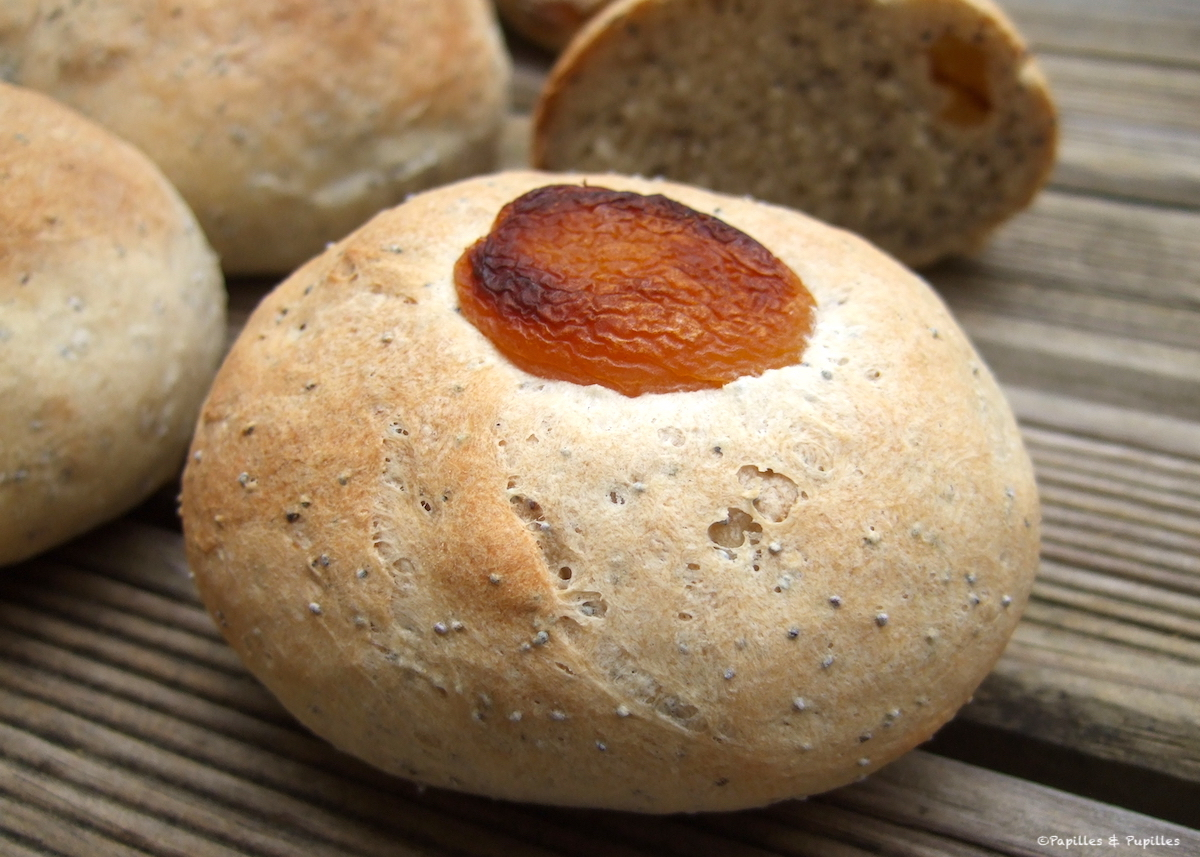 Petits pains abricots pavot